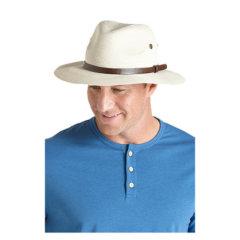 Coolibar 多国防晒机构认证 专利透气宽檐可折叠男士 高尔夫球帽 UPF50+图片