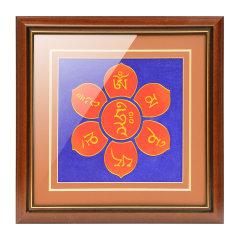 goldentara/金色度母掐丝手工艺唐卡六字真言装饰挂画图片