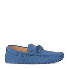 Tod's/托德斯男士蓝色男士休闲鞋小山羊皮豆豆鞋图片