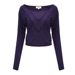 DIESEL/迪赛女士T恤-女士紫色长T恤 材质:100粘纤图片