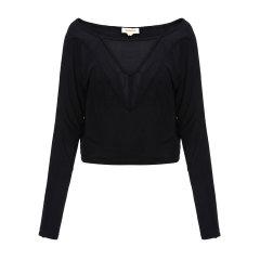DIESEL/迪赛女士T恤-女士黑色长T恤 材质:100粘纤图片