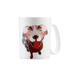 哲品家居阿旺系列马克杯狗年单人杯骨瓷大容量随手杯创意可爱水杯图片