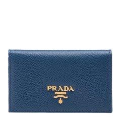 PRADA/普拉达 女士经典logo时尚牛皮按扣式短款钱包钱夹 多色可选图片