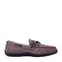 COZY STEPS/COZY STEPS 2017冬季新款牛皮+羊皮毛一体蝴蝶结饰男士豆豆鞋图片