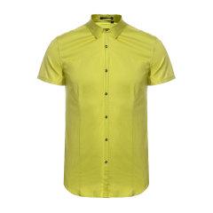 DAVID NAMAN   男士绿色 时尚 活力 百搭 休闲短袖衬衫-男士短袖衬衫图片