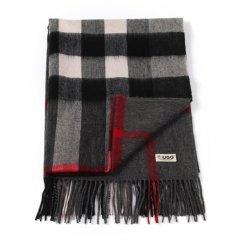 【澳洲直邮UGG披肩】【纯羊毛】Everugg 羊毛披肩女士格子保暖流苏披巾女款11492图片