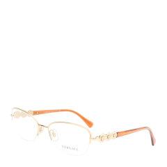 VERSACE/范思哲 女款金属半框桔色腿光学镜架0VE1217B1002 桔色图片
