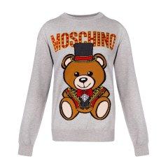 Moschino 莫斯奇诺 20秋冬 女装 服饰 棉质时尚小熊图案长袖运动衫 女卫衣图片