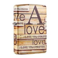 美国Zippo打火机彩印爱情墙LOVE告白 情人节礼物男士礼物图片