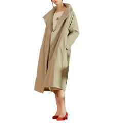 SHENGJIANG/生姜原创中式女装2018新款冬季宽松长款立领棉服保暖外套女改良中式服11845103图片