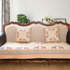 瑞典Ekelund 纯棉表面四季防滑沙发垫实木沙发组合坐垫子北欧布艺图片