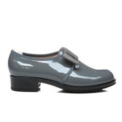 EVER UGG/EVER UGG  中跟鞋 春夏新款黑底漆皮蝴蝶结女士小皮鞋图片