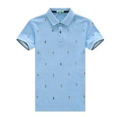 HAZZYS/哈吉斯 春夏新款英伦休闲印花男士短POLO-T恤衫ASTZE07BE19图片