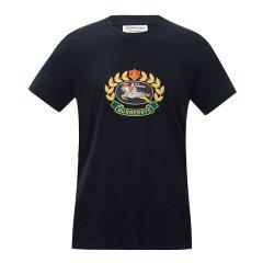 BURBERRY/博柏利  浅麻灰棉质典藏绣标男士短袖T恤 8002952图片