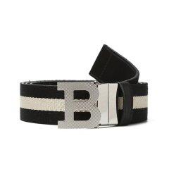 BALLY/巴利 男士B BUCKLE_35M.T 板扣皮带 织物/牛皮革图片