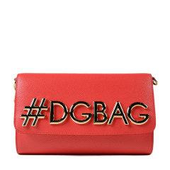 【18春夏】 Dolce&Gabbana/杜嘉班纳 女士 牛皮 牛皮 单肩包 时尚 logo装饰 黑色 3032 尺寸:22cmx14cmx6.5cm 肩带尺寸: 50 cm图片