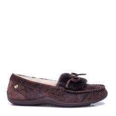 COZY STEPS/COZY STEPS蝴蝶结牛皮一脚蹬女士平跟鞋图片