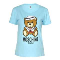 MOSCHINO/莫斯奇诺 2018年春夏新款 海军帽泰迪熊女士短袖T恤 三色可选 A19142613图片