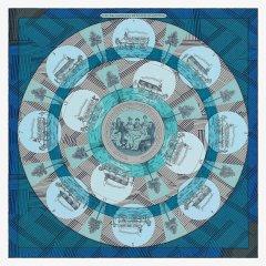 HERMES/爱马仕  丝巾 四色可选 018792 粉蓝色 方形图片