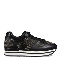 HOGAN/霍根女士黑色女士运动鞋H222系列运动鞋图片