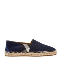BURBERRY/博柏利  板鞋  巴宝莉 男士帆布格纹麻编鞋 平底鞋 板鞋 4045801图片