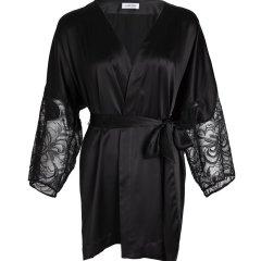 【Designer Womenwear】DARE ONE/DARE ONE Secret Garden 19春夏 轻奢真丝蕾丝接拼中短睡袍女睡衣/家居服图片