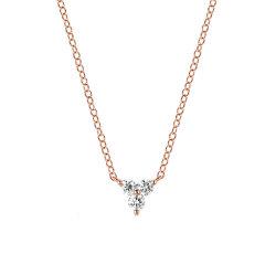 EF Collection 好莱坞明星同款女式DIAMOND TRIO系列女式三叶草钻石项链DIAMOND TRIO NECKLACE EF-60210图片