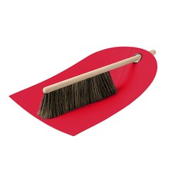 丹麦Normann Dustpan and broom 扫把/扫帚+畚箕 软毛除尘刷子床刷扫炕笤帚床上扫把除灰清理沙发桌面清理器图片