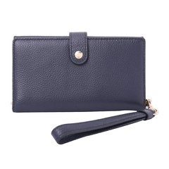 COACH/蔻驰  18年秋冬新款 专柜款 黑色抛光粒面皮革女士手机腕包钱包 13943LIBLK图片