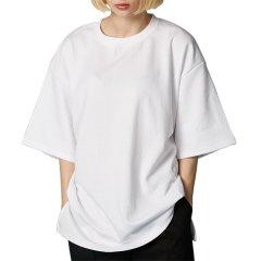 [18春夏新款]AT THE MOMENT 简约宽松白色短袖T恤图片