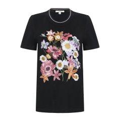 GEGINA/GEGINA 春夏  花卉刺绣女士短袖T恤  2色图片