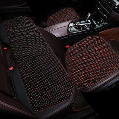NATU  新款汽车夏季木珠凉垫  汽车菩提子珠子座垫  汽车红酸枝三件套坐垫图片