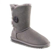 【18秋冬】Ozwear ugg/Ozwear ugg  女士雪地靴 秋冬新款一粒扣饰品 中筒防泼水雪地靴     363图片