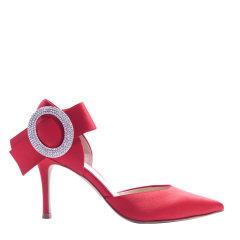 【买两双赠凉鞋】73hours/73hours 星辰 女士缎面水钻蝴蝶结尖头细跟高跟鞋年会晚宴鞋图片