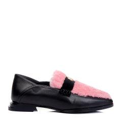 BENATIVE/本那【陈意涵款】《楚乔传》系列 休闲皇冠饰扣低跟单鞋胎羊皮乐福鞋BN01732015图片