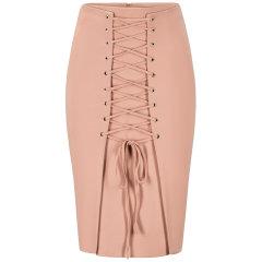 【Designer Womenwear】Lavish alice/Lavish alice刘诗诗黑色/橘粉色正面系带女士半身裙 橘粉色 英码12图片