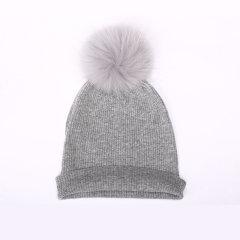 Zynni Cashmere 女士高级毛绒毛球帽BL9051图片