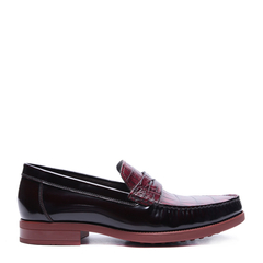 【买赠】CHARRIOL/夏利豪 牛皮一脚蹬鳄鱼纹单鞋男士商务正装鞋图片