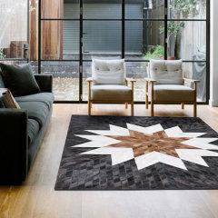 DOWNESSA永恒之美 设计师原创毛皮拼接地毯图片