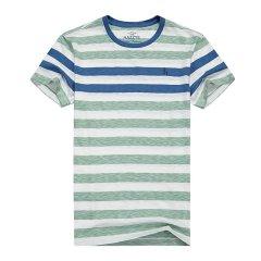 HAZZYS/哈吉斯  夏装新款圆领条纹短袖T恤男士短袖T恤ASTZE06BE06图片