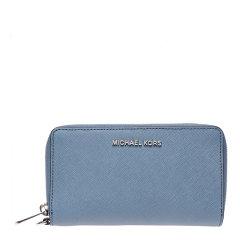 MichaelKors/迈克·科尔斯MK女士Saffiano皮革长款拉链钱夹钱包32H4STVE9L图片