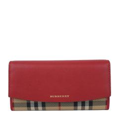 BURBERRY/博柏利 女士格纹帆布/配皮长款钱包 4024987图片
