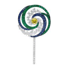 【Designer Jewelry】HEFANG Jewelry/何方珠宝糖果系列棒棒糖胸针图片