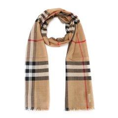 【19新款】BURBERRY/博柏利  男女同款 三色可选 格纹桑蚕丝混纺围巾 8015405