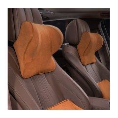 QUEES/乔氏 汽车头枕腰靠 车用车载护颈枕靠枕 麂皮面料 太空记忆棉图片