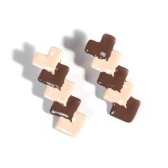 VIVALANDS/VIVALANDS【甜品系列】红色心形流心饼干耳环 甜蜜魔力 撞色 礼物 小众设计师品牌 明星同款 可改耳夹图片