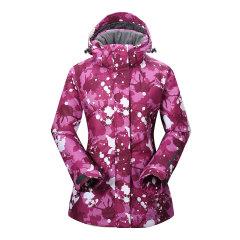 VILL/VILL 女款滑雪服 户外防风防水保暖滑雪羽绒服外套女图片