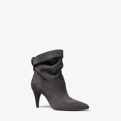 Michael Kors/迈克·科尔斯 MK女士17秋冬新款 麂皮绒堆叠黑色短靴 40F7CYME5S图片