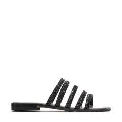 BENATIVE/本那18夏季假日悠闲 新款多彩拼色镂空拖鞋 进口格利特平跟女士凉拖图片
