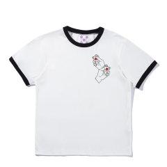 【DesignerWomenwear】5min/5min麻将文化摸牌手印花女士短袖T恤5MMJ1702图片